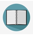 note book paper icon vector image