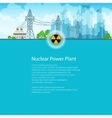 Brochure High Voltage Power Lines vector image