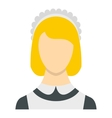 Maid icon flat style vector image
