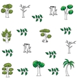 art of tree doodles vector image