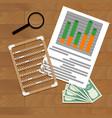paperwork report economy vector image