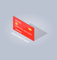 plastic detailed payment card cartoon style flat vector image