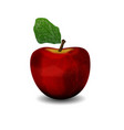 Realistic apple red vector image