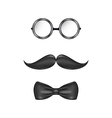 Vintage symbolic of a man face glasses mustache vector image
