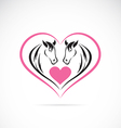 Horse and Heart vector image