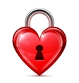 Red Heart Lock vector image vector image
