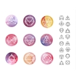 Abstract circle watercolor Patterns Set with vector image