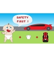Baby child car safety concept vector image