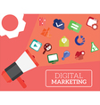 digital marketing vector image