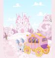Princess Carriage Back to Kingdom vector image