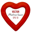 Plasticine banner in heart form vector image