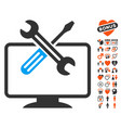 computer tools icon with dating bonus vector image