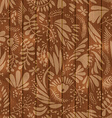 Floral pattern on wooden seamless background vector image
