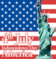 Fourth of july independence day card vector image