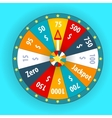 Happy colorful wheel of fortune vector image