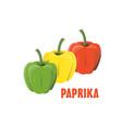 logo paprika farm design vector image
