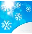New Year snowflakes background vector image