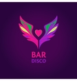 Night club disco beach party bar show vector image