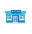 post office building outdoor interior of house vector image