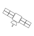 satellite black color icon vector image