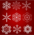 Set of beautiful snowflakes vector image