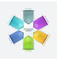 star arrows ribbons infographics set vector image