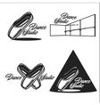 Vintage dance studio emblems vector image