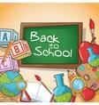 Supplies of back to school design vector image