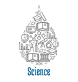 Science icon in water drop shape vector image