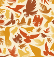 decorative bird background vector image vector image