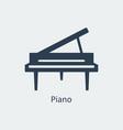 piano icon silhouette icon vector image