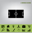 soccer field  black icon at gray vector image