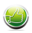Abstract Logo Thumb Up Like Finger Design Icon vector image