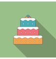 Flat Cake Icon vector image vector image