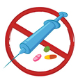 no drugs vector image