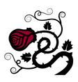 Rose flower decoration vector image vector image