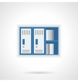 Office lockers flat color design icon vector image