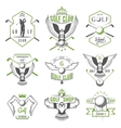 Set of Golf Logo Labels and Emblems vector image