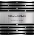 Abstract techno metal background vector image