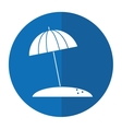 beach umbrella parasol sun vacation shadow vector image