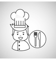 cartoon chef gourmet restaurant concept vector image