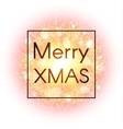 Christmas card on abstract explosion background vector image