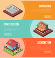 countryside house building posters set vector image