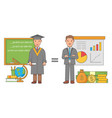 education concept in flat vector image