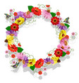 frame from flowers greeting card vector image