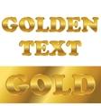 Golden metallic text with gradient vector image