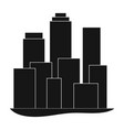 metropolisrealtor single icon in black style vector image