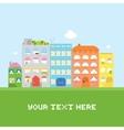 Pixel art house set card vector image
