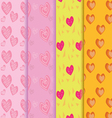 seamless heart patterns color full vector image