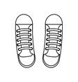 shoe young style icon vector image